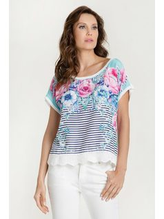PRINT TRICOT TOP front