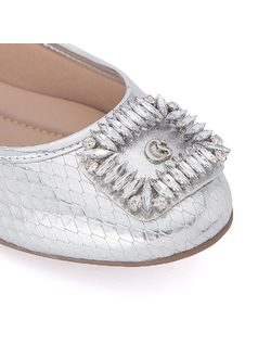 Ballerina flat with crystals back