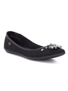 Ballerina flat with crystal broche front