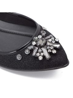 Ballerina flat with crystal broche back