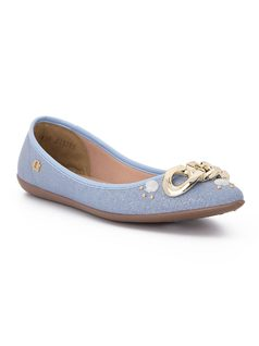 Ballerina flat with nautical ornaments front