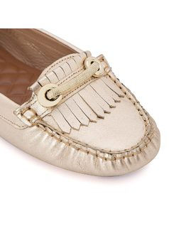Moccasin with metal detail back