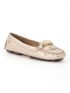 Moccasin with metal detail front