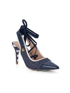 Ankle tie pump front