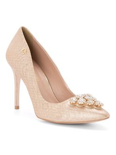 Pump with crystal embellishments