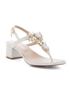 T-strap sandal with crystals