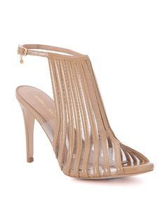 Ankle strap sandal with silicone front