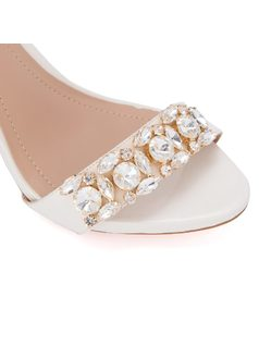 Ankle strap sandal with crystals back