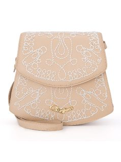 Crossbody bag with ebroidery front