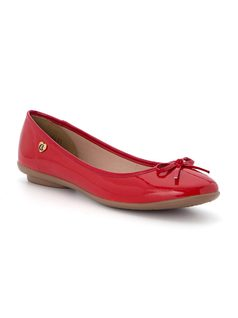 Ballerina flat with knot detail front