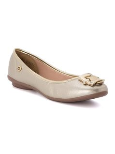 Ballerina flat with metal detail front