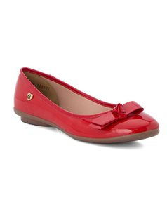 Ballerina flat with bow front
