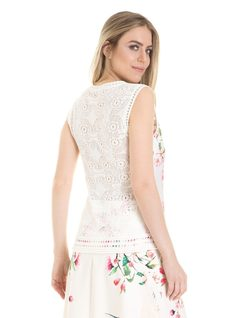 Halter top with embroidery back
