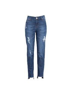 Step hem ankle skinny jeans