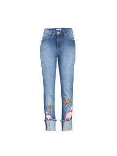 Skinny jeans with embroidery