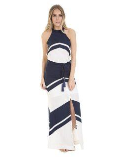 Color block maxi skirt