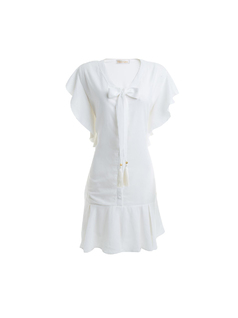 Midi dress with frills - no picture front