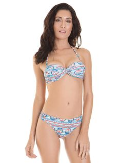 Bikini Doble Face Estampada - Moda Playa front