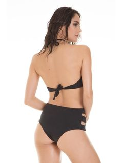 Bikini Hot Pants con Top - Moda PLaya back