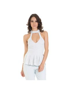 BLUSA PEPLUM TRICOT front