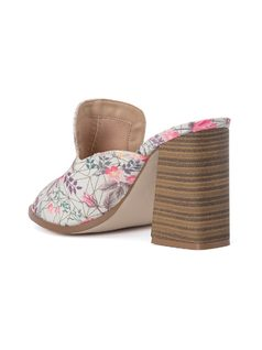 FLOWER PRINT SLIP IN MULE back