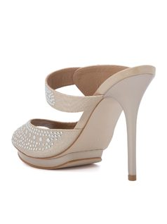 HIGH HEELED PEEP TOE back