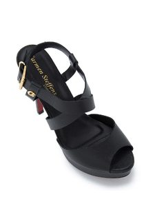 WEDGE SANDALS WITH CROSSED STRAPS