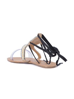 FLAT SANDALS WITH TRANSPARENT FRONT back