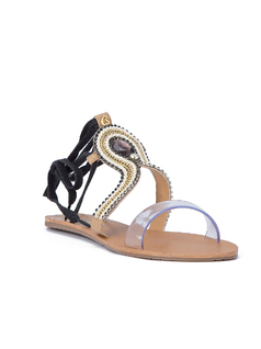 FLAT SANDALS WITH TRANSPARENT FRONT front