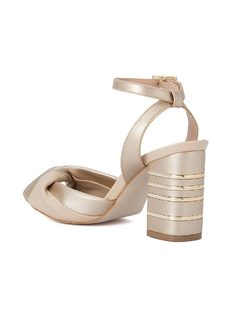 SQUARED HIGH HEELED SANDALS back