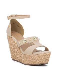 CORK WEDGE HIGH HEELED SANDALS front