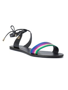 FLAT SANDAL WITH ANKLE STRAP front