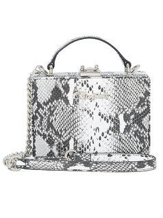 Lizard-Embossed City Bag front
