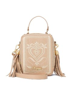 Crossbody Embroidered & Tassel Bag back