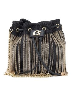 BUCKET BAG WITH CHAINS front