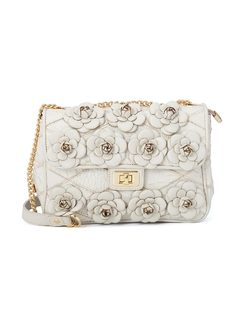 Crossbody Bag with Flower applique front