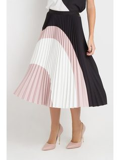PLEATED MID SKIRT