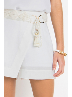SHORTS WITH MACRAME DETAIL