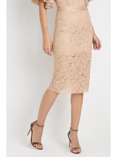 LACE MID SKIRT