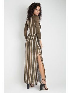 STRIPED KNIT DRESS back