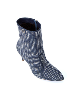 JEANS BOOTS WITH CRYSTALS