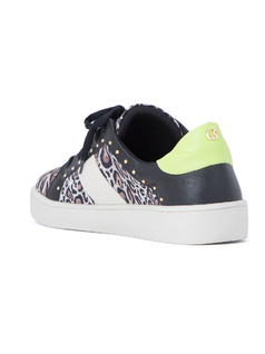 LEOPARD AND STUDS SNEAKER back