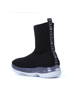 KNIT HIGH TOP SNEAKERS