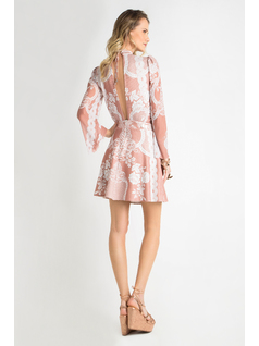 SHORT DRESS WITH SLEEVES back