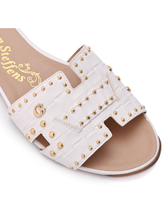 Slip In Flat Sandal with Studs back