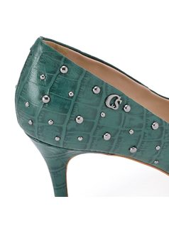Green Pump with Studs back