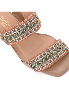 Slip In Heeled Sandal back