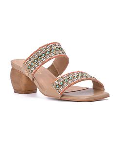 Slip In Heeled Sandal front