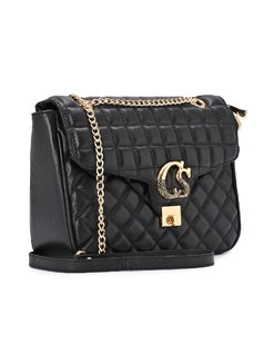 Quilted Black Bag front