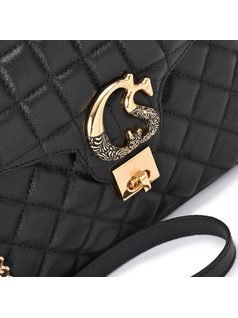 Quilted Black Bag back